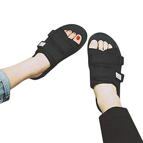 Manifattura di moda uomo con comodi ventilazione sandali pantofole Black