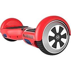 "M MEGAWHEELS 6.5"" Patinete Eléctrico con Bluetooth y LED Luces, para Adolescentes/Adultos, Batería Durable y Bolsa de Transporte - Rojo"