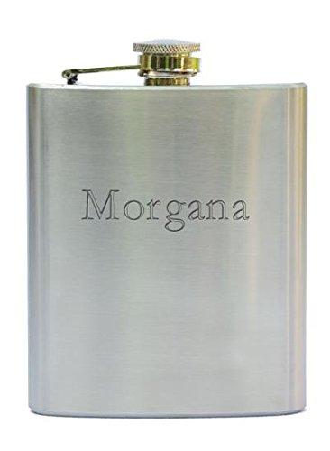 Rostfreistahle Flasche mit gravierten Namen: Morgana (Vorname/Zuname/Spitzname)