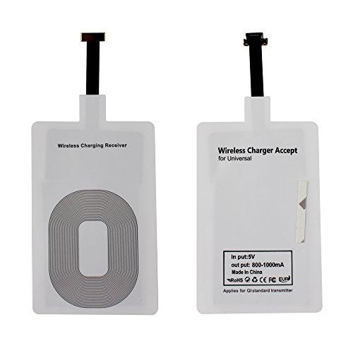 Elinkume 5V Wireless Qi Receiver Universal 800 mA Micro USB Wireless Charging Qi Receiver Empfänger für Android Handy- -Schmal-Schnittstelle nach unten