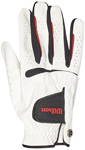 WILSON Herren Golf Handschuh Feel Plus MRH, Weiß, M, WGJA00065M