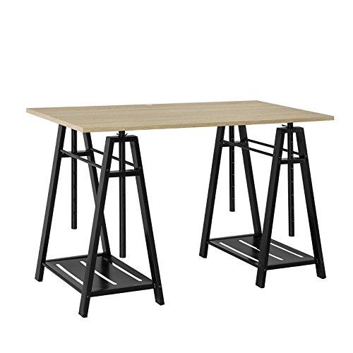 SoBuy FWT32 N, Trestle Table Desk Height Adjustable, Home Office Table Desk  Computer Workstation
