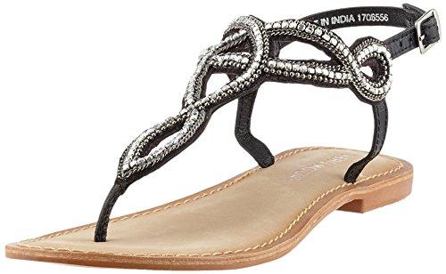 Vero Moda Vmsis Leather Sandal, Cinghietti Donna Nero (Black)