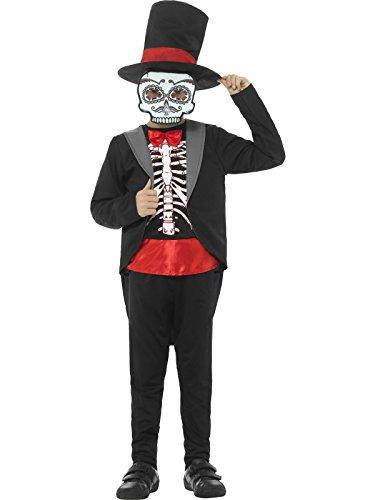 n Tag der Toten Kostüm, Jacke, Oberteil, Hose, Hut und Maske, Alter: 4-6 Jahre, 45189 (Tag Der Toten Kostüme Für Kinder)
