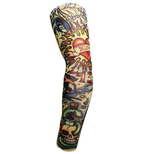 Makefortune  Arm Sleeves, Arm Warmers UV Protection for Men Women Youth Arm Support for Cycling Golf Baseball Basketball Sport Tattoo Cover Arm Compression Sleeves