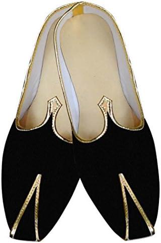 INMONARCH Hombres Negro Terciopelo Boda Zapatos Ropa de Fiesta MJ014309