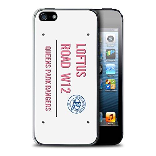 Offiziell Queens Park Rangers FC Hülle / Case für Apple iPhone SE / Weiß/Gold Muster / QPR Loftus Road Zeichen Kollektion Weiß/Rosa