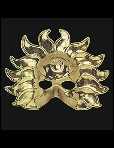 Kostüm Sonne - Generique - Sonnen-König Halbmaske Kostüm-Accessoire Gold
