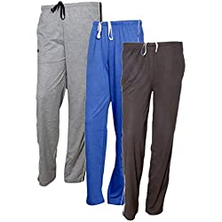 IndiWeaves Women's Premium Cotton Lower with 1 Zipper Pocket and 1 Open Pocket(Pack of 3)_Grey::Grey::Brown-42
