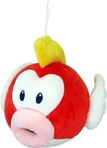 "Sanei Super Mario Plush Series Plush Doll 6"" Cheep Cheep/PukuPuku Plush"