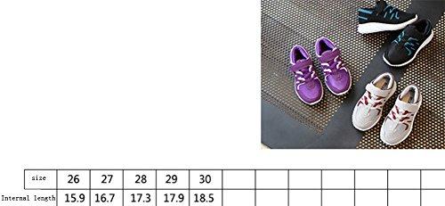 Ohmais Enfants Filles Garçon Chaussure de loisir chaussure de sport souliers Violet