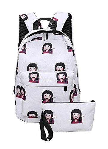 Keshi Nylon Cool Schulrucksäcke/Rucksack Damen/Mädchen Vintage Schule Rucksäcke mit Moderner Streifen für Teens Jungen Studenten Mehrfarbig 2