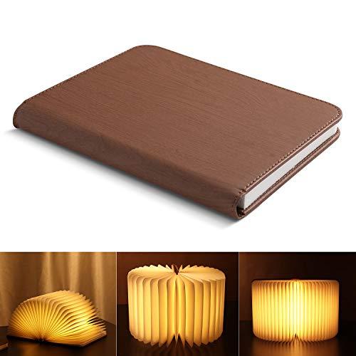 Yissvic Buchlampe LED Buchlicht Stimmungsbeleuchtung Buchforme Nachtlicht 1700mAh 360° Faltbar...