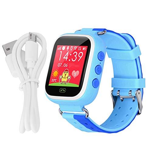 Preisvergleich Produktbild Telefonuhren für Kinder,  Smart Watch 1, 44 '' Touchscreen GPRS SOS Anruf GPRS LBS Ortungsgerät Anti Lost Tracker Mode Kinder Uhr(Blau)