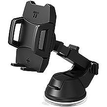 Soporte Móvil Coche para Montaje TaoTronics con Liberación Trasera de un Solo Botón con Ventosa de Succión Plana y 3 Modos de Ajustar para iPhone, Galaxy, Nexus y Otros