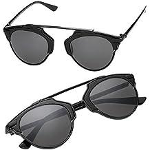 ZEARO Moda Gafa de Sol Mujer Hombr Unisex ClassicN Elegante Vintage Sunglasses (negro)