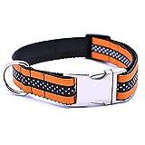 dianzishangcheng Hundehalsband, Reflektierend, Atmungsaktiv, langlebig, verstellbar, Größe M, Orange
