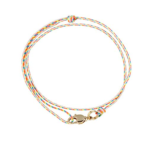 Edles Herren Armband Herrenarmband für Männer stufenlos verstellbar mit Karabiner (Retro, Vergoldet)