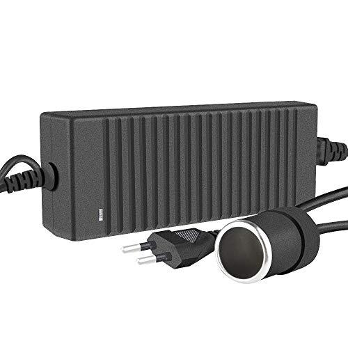 Koyoso 12V 10A Transformateur Convertisseur, 120W Alimentation Électronique AC à DC Adaptateur, 100-220V/230/240V AC Allume Cigare Prise à 12V DC Adaptateur