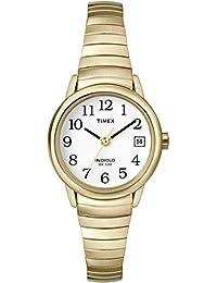 Timex Damen-Armbanduhr XS Flexbanduhren Analog Edelstahl beschichtet T2H351PK