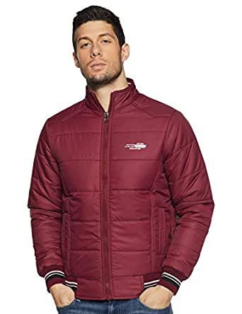Qube By Fort Collins Men's Jacket (7292_Maroon_XL)