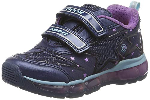 Geox J Android Girl B, Zapatillas para Niñas, Azul (Navy/Purple C4269), 27 EU