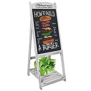 UNHO Chalkboard A Board Magnetic A Frame Blackboard Sandwich Board Pavement Sign Standing Chalkboard Sign for Business Restaurant Wedding