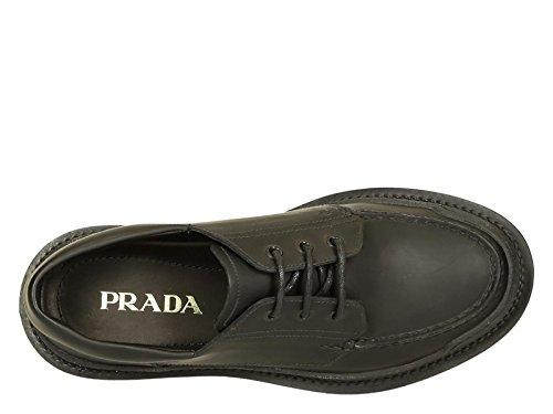 Chaussures à lacets Prada homme en cuir satin noir - Code modèle: 2EE199 3G45 F0002 Noir