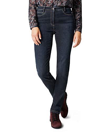 Walbusch Damen Cashmere Jeans einfarbig Dark Blue 38