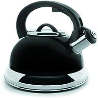 Lacor 68644 - Hervidor silbante, 2,5 litros, negro