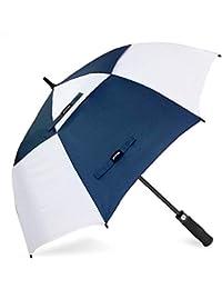 ZOMAKE Grand Parapluie Golf Automatique 158cm Double Canne, Anti UV, Parapluie Solide pour Homme Femme 8 Baleines