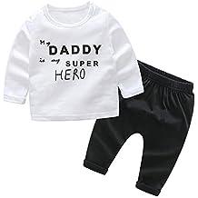 Covermason Bebé Unisex Lindo Animados Impresión Camisa y Pantalones para Niñas Niños