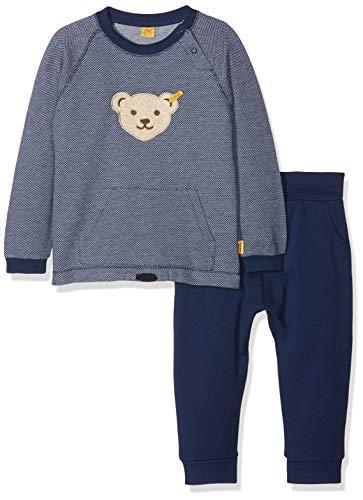 Steiff Baby-Jungen Bekleidungsset 2tlg. Set Sweatshirt 1/1 Arm + Jogginghose, Blau (original|Multicolored 0004), 62
