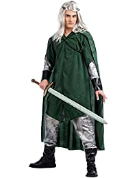 Elbenwald Green Forest Elf Costume Cape – Men's 3 Piece Set Frock zum Karneval