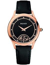 amazon co uk balmain swiss made watches balmain women s leather band rose gold plated case quartz watch b3639 32 66