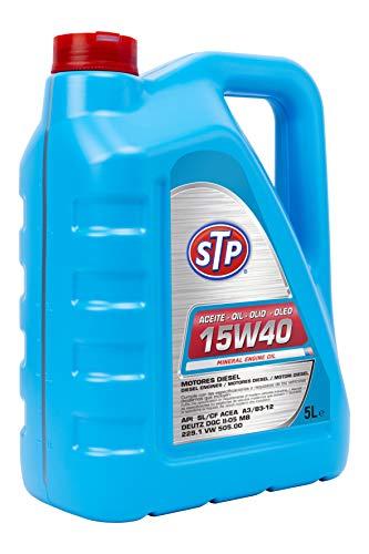 STP STA15W405L Olio 15W40 TDI. Motori Diesel. API SL/CF ACEA A3/B3-12 DEUTZ DQC II-05 MB 229.1 VW 505.00, 5 Lit