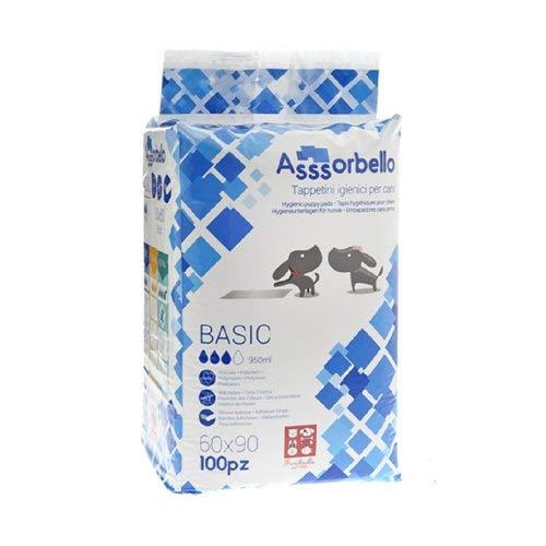 Ferribiella IGN021 Asssorbello Tappetini igienico cane, 60X90, Confezione di 100 Pezzi