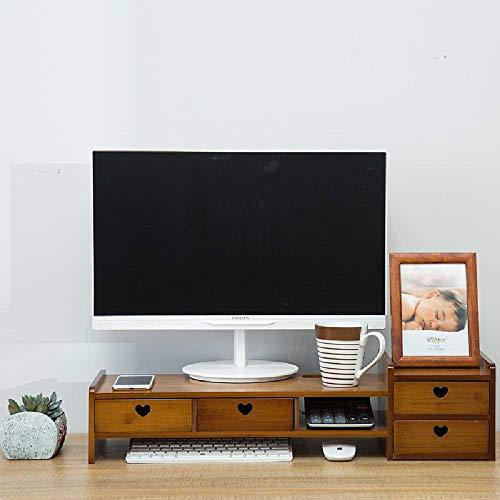 KH Braun Computer - monitore erhöhten Computer Stehen die Bambus - Desktop - Tastatur - Regal MIT Notebook Gemäß Absatz 4 der Liebe MIT braunen - Vier Einstellbare Feste Regal
