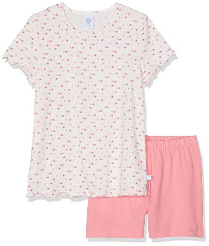 Sanetta Mädchen Pyjama Short Zweiteiliger Schlafanzug, Rosa (Bridal Blush 3997), 104