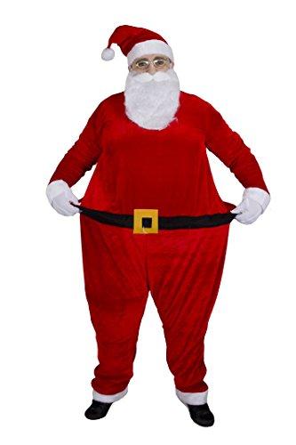 Weihnachten Fat Suit Neuheit Fancy Kleid Kostüm Santa Anzug, Elf Anzug, Weihnachts Pudding oder Pinguin Anzug Deluxe Creolen Funny Weihnachten - Fat Santa Kostüm