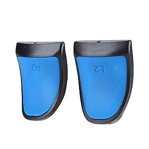 2 stücke Ersatz Thumbstick Griff,VBESTLIFEErweitern, L2 / R2 Auslöser Gamepad Taste für PS4 Controller(blau)