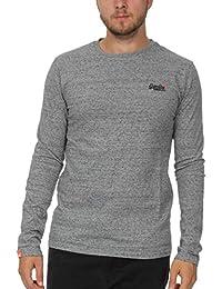 d9300521 Superdry Men's Longsleeved Orange Label Vintage Embroidery T-Shirt, Grey