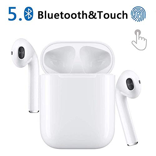Cuffie senza fili Bluetooth Sport Mini 5.0 Auricolari Riproduzione Stereo 24h Cuffie HD con...