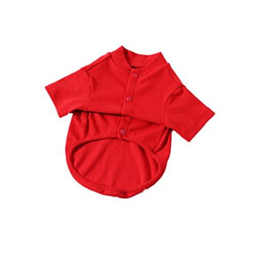Kostüm Maskottchen Billig - Fenteer 100% Baumwolle Hundehemd Zwei Fuß Mode Kleidung Schweißabsorption Maskottchen Kostüm Kostüm Schwarz/Grau/Rot