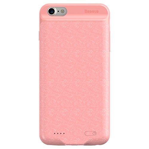 iPhone 7Compartiment de batterie, Baseus Ultra fin Sac à dos Extended banque d'alimentation 2500mAh Chargeur Coque pour iPhone 7 rose