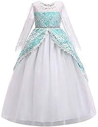 ABCone Vestito da Principessa in Pizzo da Bambina Fiocco in Bowknot Abiti  da Cerimonia con Vestitino 9cb4b545df7