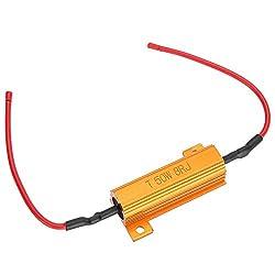 Duokon Decoder, 2 stücke 50 watt 8 ohm auto drahtgewickelte led lastwiderstand fix led lampen hyper flash blinker blinker