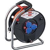 Brennenstuhl Kabeltrommel Super-Solid IP44 3-fach 25m H07BQ-F 3G2,5 Kabelfarbe orange