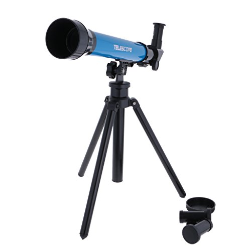 MagiDeal Blue Astronomical Telescope w/ Tripod Play Set Kids Students Educational Toy Creative Gifts
