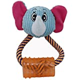 Sri Cute Smiley Face Toy for Puppy Cat, Blue (Small)